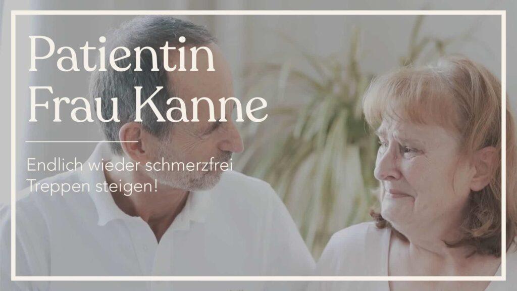 Roland mit Patientin Frau Kanne