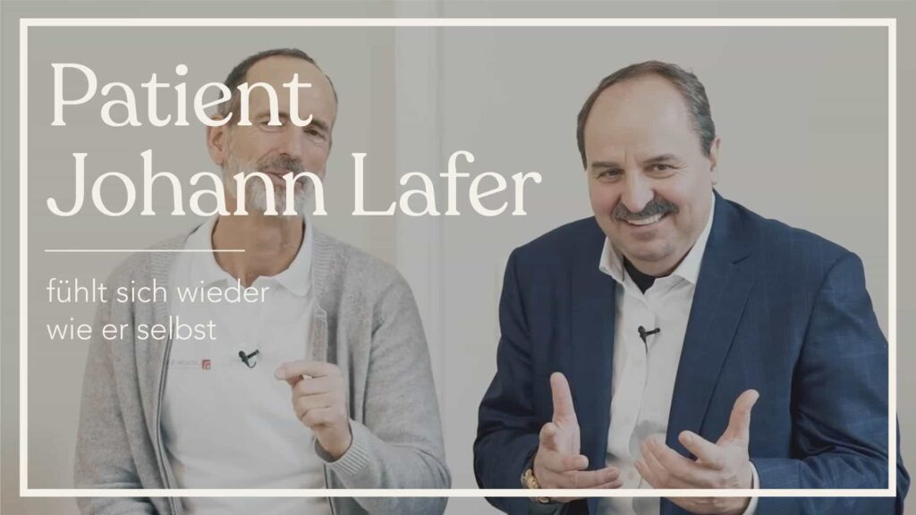Roland mit Patient Johann Lafer